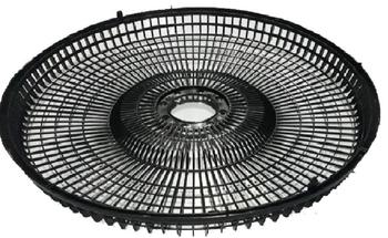 Grade Ventilador Orbital 360º Loren Sid 40cm - Grade Plástica Preta + Fechada - Serve Tanto para Dianteira ou Traseira - Vendida p/Unidade