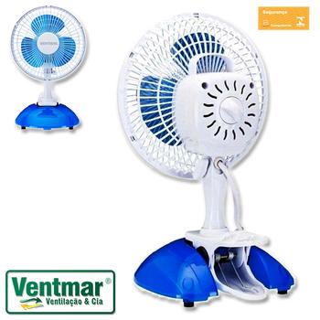 Ventilador De Mesa 20cm Ventisol Mini 127v Branco - Hélice 3Pás Azul - MINI VENTILADOR PREMIUM 20CM