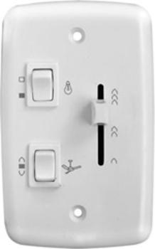Chave para Ventilador de Teto - Controle de Velocidade Deslizante Bivolts Tecla de Reversão + 1Tecla p/Luz 1Lâmpada - Cor BRANCA