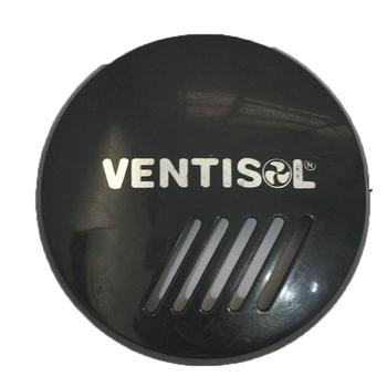 Emblema da Grade do Ventilador Ventisol Preto - Logotipo Anterior Até 2018 - Anel Frontal Plastico