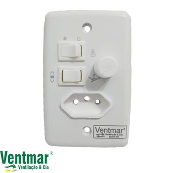 Chave para Ventilador de Teto Controle de Velocidade Dimer 0400w Rotativo c/Tomada - Chave Ventilador Arge - Chave Ventilador Loren-Sid e Outros...