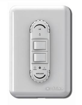Chave para Ventilador de Teto Latina 127v - Dimer Rotativo para Ventilador + Liga 1 Lâmpada com Dime