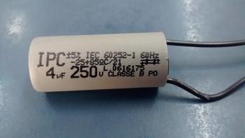 Capacitor para Ventilador de Teto 220Volts 04,0uF 2Fios 250Vac - Ventiladores Tron, Loren Sid, Volare, Venti-Delta, Arge, etc. CAP004,0
