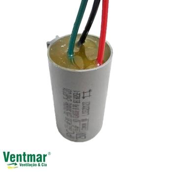 Capacitor para Ventilador de Teto Loren Sid M3 127v 08,5uF 250Vac 3Fios 2,5+6,0mF - Capacitor Ventilador Tron - Capacitor Ventilador Arge 127V