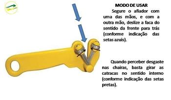 Afiador de Facas Manual Suprakorte Amarelo - Afiador Supra Korte - VENTMAR