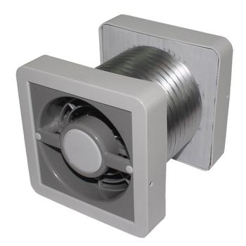 Exaustor de 15cm para Banheiro Ventokit 150mm Biv 280m3h 12m2 - Kit Completo C280A Bivolt - Exaustor