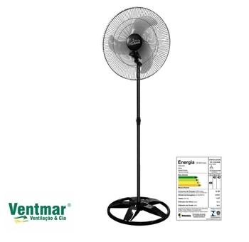 Ventilador De Coluna 60cm Venti-Delta Premium Bivolts 170w Preto - Hélice 3Pás Grades Metal Pretas Chave Controladora de Velocidade
