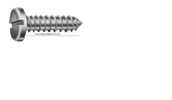 Parafuso Fenda Cabeça Panela Ciser 5,5x50,0mm - Kit-25Pçs
