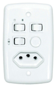 Chave Ventilador de Teto Rotativo Liga 2 Lampadas Bivolt Com Tomada