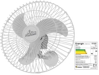 Ventilador de Parede 60cm Venti-Delta Premium Bivolts 170w Branco - c/Controle de Velocidade - Hélice 3Pás - Ventilador Delta Premium 60cm