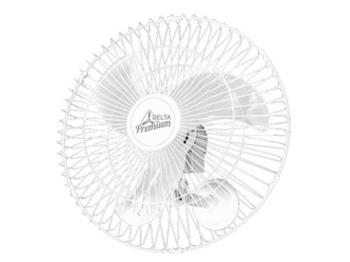 Ventilador de Parede 60cm Venti-Delta Premium Bivolts 170w Branco - Chave Controle de Velocidade - Hélice 3Pás