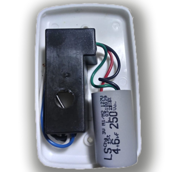 Chave para Ventilador de Teto Loren Sid 3Velocidades 127v10,0uF 4+6mF BRANCA - Ventilador RioPreLustres Venti-Delta Arge Motor Antigo