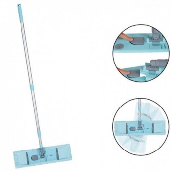 Esfregão para Limpeza Mop Sêco Retangular c/Cabo Altura Regulavel - MOR 8268