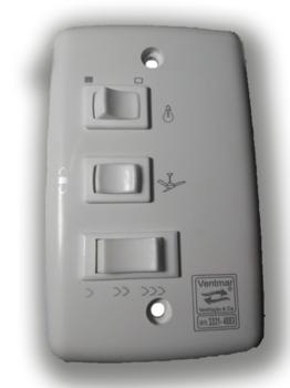 Chave Ventilador de Teto 3V 220v Liga 1 Lampadas 2,5Uf (1,0+1,5) CV3V