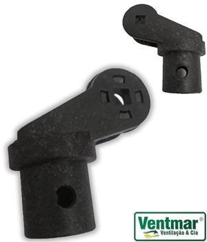 Suporte Cachimbo Ventilador VENTI-DELTA - Suporte do Motor Oscilante Coluna ou Mesa cor Preta - Encaixe 29mm - Apenas p/Coluna ou Mesa