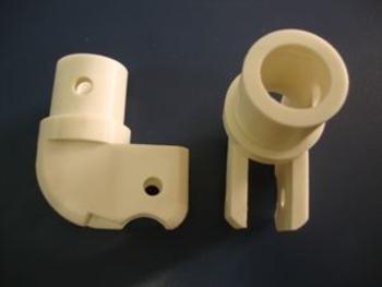 Suporte Cachimbo Ventilador VENTI-DELTA Antigo1 Branco (Plástico)