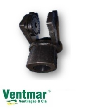 Suporte do Motor do Ventilador LOREN SID Preto - Suporte Cachimbo Turbo 30/40/5060 PT Cotovelo (Plástico)