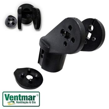 Suporte do Motor do Ventilador Ventisol MX PRETO c/Disco Trava - Garfo do Motor VOP MX 50/60cm - Acoplamento Preto