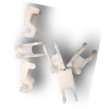 Trava Plastica para Grade Ventiladores Diversos Cor Branca/Cristal - Kit c/6 Unidades do código 0474