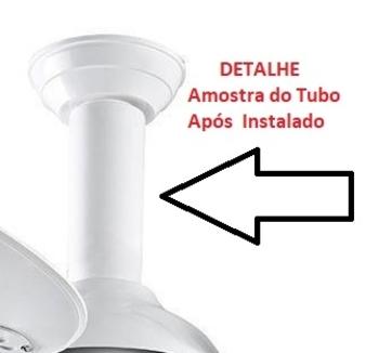 Carena Tubo Plástico Branco - Acabamento da Haste para ventilador de Teto - Kit c/2Peças que se enca