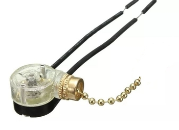 Chave Correntinha para Luminária de Ventilador de Teto - Correntinha para Ligar e Desligar Lâmpada de Ventilador de Teto Importado