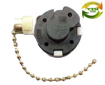 Chave Correntinha para Ventilador de Teto c/3Velocidades - Chave para Ventilador de Teto Importado - Comando 3Velocidades c/Correntinha