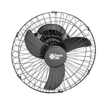 Ventilador de Teto Loren Sid Orbital 50cm Bivolts Preto - Rotação em 360° Grade Metal Preta (OCP-000