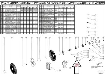 Mecanismo do Oscilante - Bucha Suporte do Motor Oscilante Ventilador Venti-Delta 50/60cm Preta
