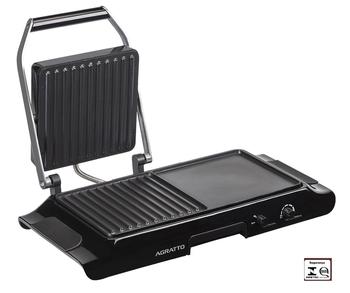 Sanduicheira & Grill Duo 127V 1250W Preta - Mr.Cheff AGRATTO (OCP-0040 SGS) - MR CHEFF GDG-01 PR 125