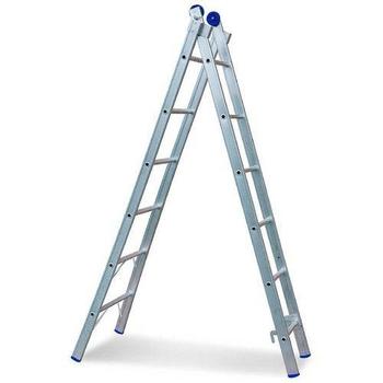 Escada de Alumínio 06 Degraus - Escada Extensiva - Escada de 06 Degraus - REAL ESCADAS