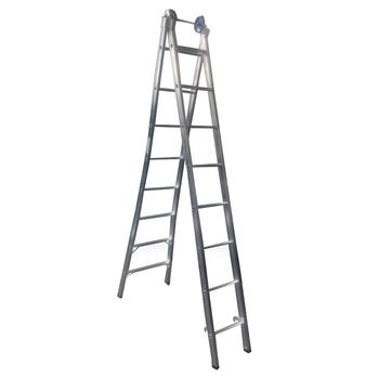 Escada de Alumínio 08 Degraus Extensiva - Escada Extensiva de 08 Degraus - Escada Profissional 4 em 1