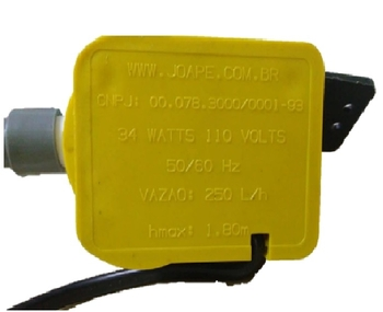 Bomba de Agua para Climatizador Joape 110v - Vazao 0250L/H Hmax; 1,80mt Modelo Parede - Climatizador 767, FORTALEZA, GUARUJA, COPACABANA, CASSINO e JU