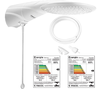 Chuveiro Lorenzetti - Ducha Advanced Eletrônica 127v 5500Watts - com Haste p/Regular Temperatura - D