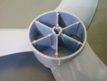 Hélice para Ventilador VENTISOL 40CM 3Pás - EIXO 8MM - Notos Azul (Porca na Ponta) HELVOVTS HEL40 HE