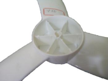 Hélice para Ventilador VENTISOL 50cm 3Pás Atual G3 MX Branca - Furo p/Encaixe no Eixo 08,0mm - Fixada c/Porca Rosca esquerda na Ponta do Eixo