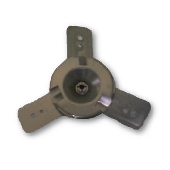 Hélice para Ventilador VENTISOL 50cm 3Pás Modelo Antigo Preto - Kit Composto p/4 Itens - Encaixe em