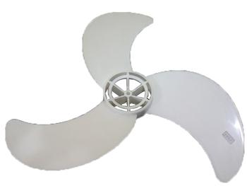 Hélice para Ventilador VENTISOL 60CM 3Pás - EIXO 8MM - Anterior Branca (Porca na Ponta) HEL60 HELVOV