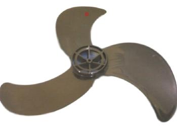 Hélice para Ventilador VENTISOL 60cm 3Pás Modelo G3 Eixo Furo 08mm - Preta - Fixada com Porca na Pon