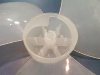 Hélice para Ventilador Loren Sid 30cm 3Pás - Eixo 10,0mm Ponta Redonda c/Trava Traseira - HELVOLSD H