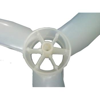 Hélice para Ventilador LOREN SID 50cm 3Pás Eixo 10mm Ponta Meia Lua s/Trava Traseira - HELVOLSD HEL5