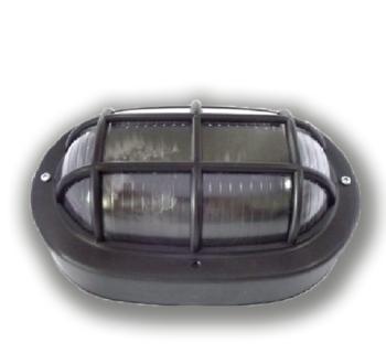 Luminária Tartaruga Oval Preta Resistente a alta temperatura 23w /25w  250v