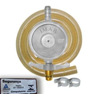 Regulador de Gás Registro com Mangueira 80cm para Fogão Baixa Pressão Imar 0728/02 - OCP-0004