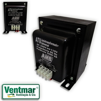 Auto Transformador de Voltagem 2.000VA AMB Bivolts - Transformador de Voltagem para Ar Condicionado