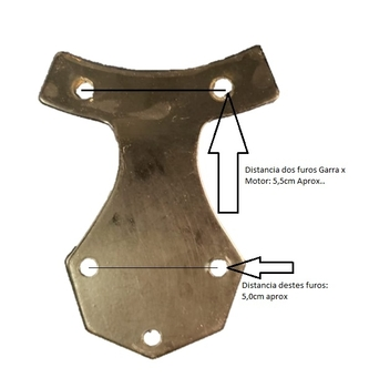 Garra da Pá Hélice Ventilador de Teto Tron Antigo - Cor Preta - Vendida p/Unidade - Peça Semi-Nova