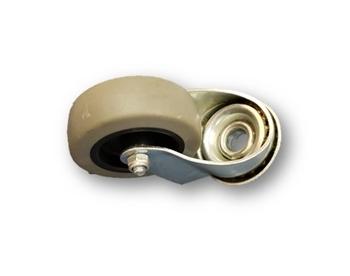 Roda Giratória 60mm Sem Freio - Roda Giratória Para Climatizador Mega Brisa MB70 MC70 MC60 - *Vendida p/Unidade