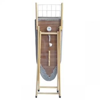 Mesa de Passar Roupas Tabua 37cm c/Tecido Metalizado e Tomada na Base 100% Madeira - Utilyne Utilaço UDM0420M