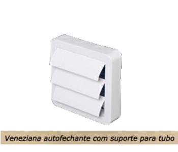 Grade Veneziana Externa 100mm 4 - Grade Plástica Auto Fechante para saída de Ar 100mm ou 120mm