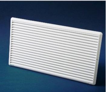 Grade Veneziana 44x24cm para Ventilação de Superfície - Medidas 44x24cm - Grelha Plástica Branca - G