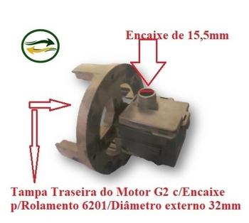 Caixa de Engrenagem para Ventilador Ventisol 50/60cm - Tampa Campana Traseira Modelo G2 com Encaixe