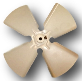 Helice para Exaustor LOREN SID 30 cm 4Pas - Encaixe Eixo 10 mm com Cubo e Parafuso Lateral